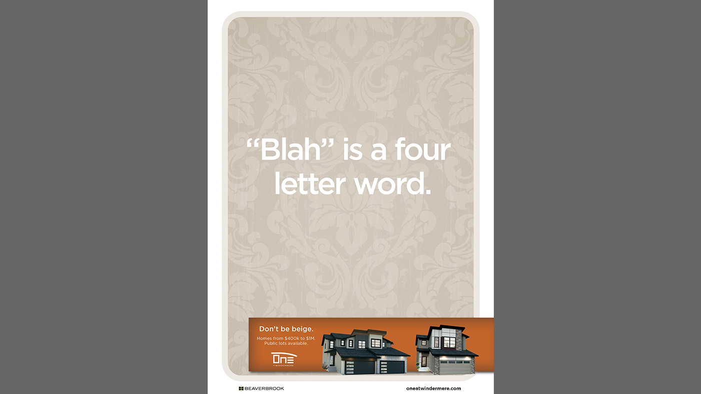 One at Windermere - Blah is a four letter word.