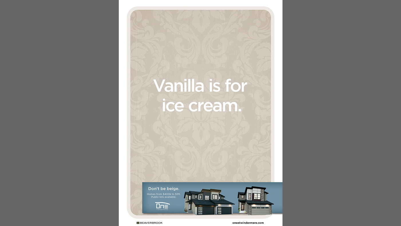 One at Windermere - Vanilla is for ice cream.