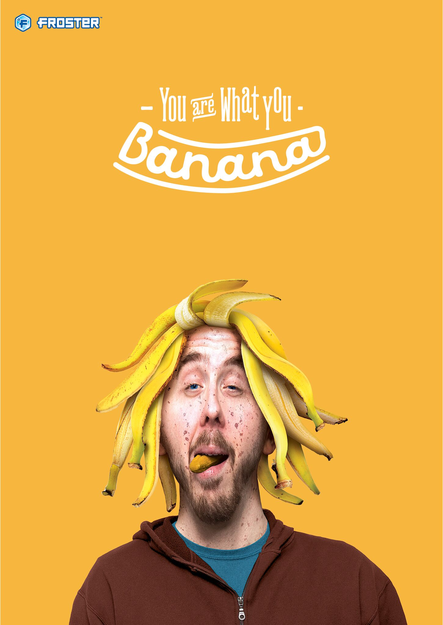 Mac's Froster - banana poster
