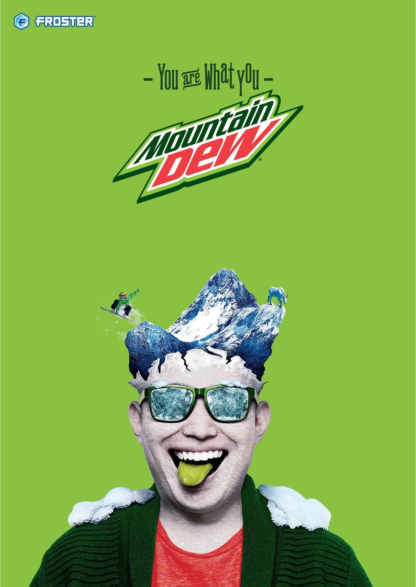 Mac's Froster - Mountain Dew poster