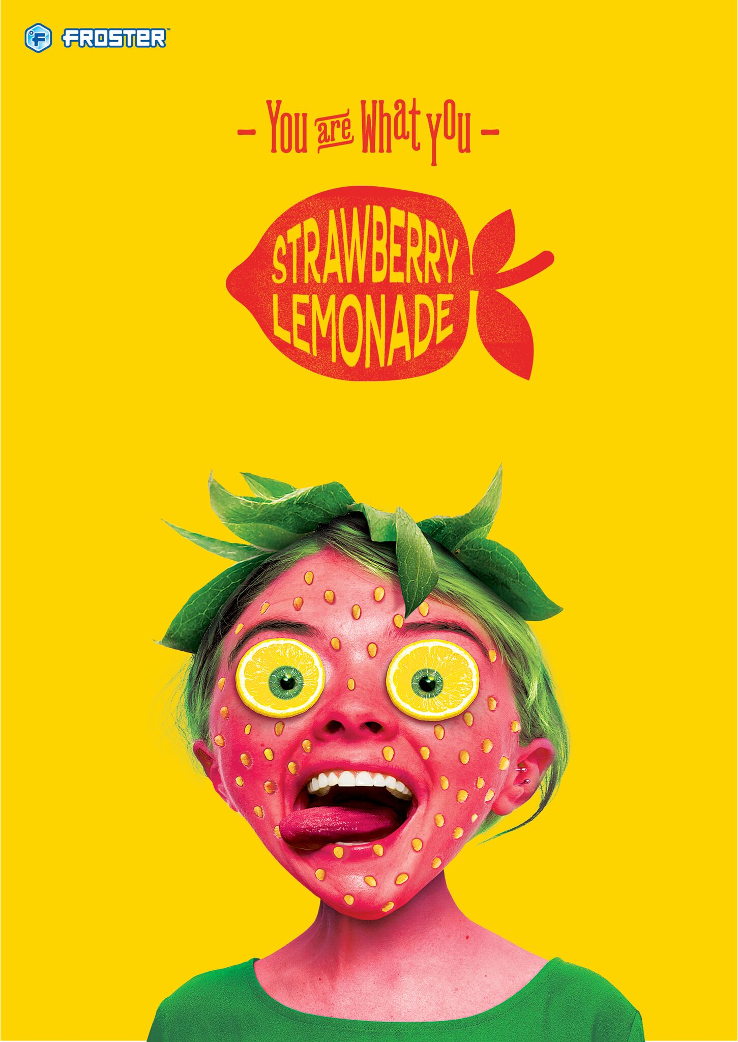 Mac's Froster - strawberry lemonade poster