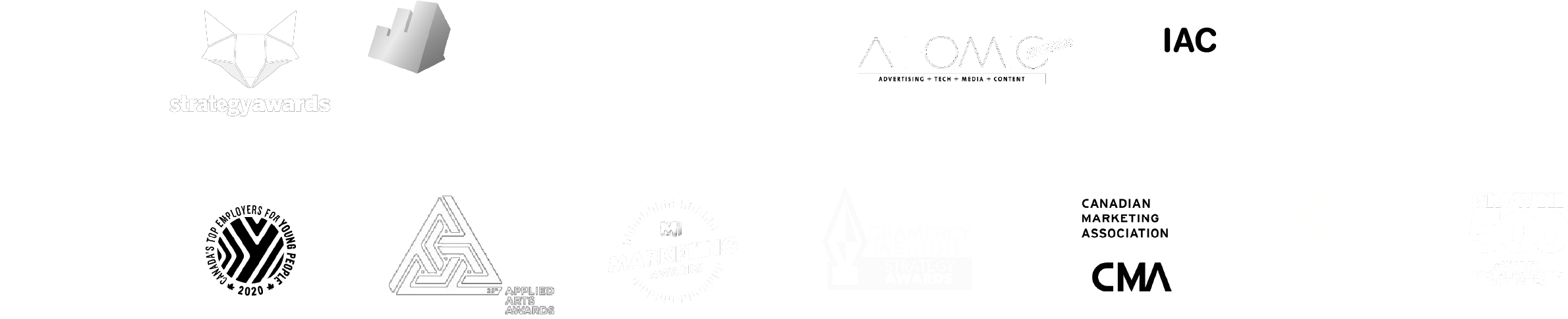 Logos of G&G awards