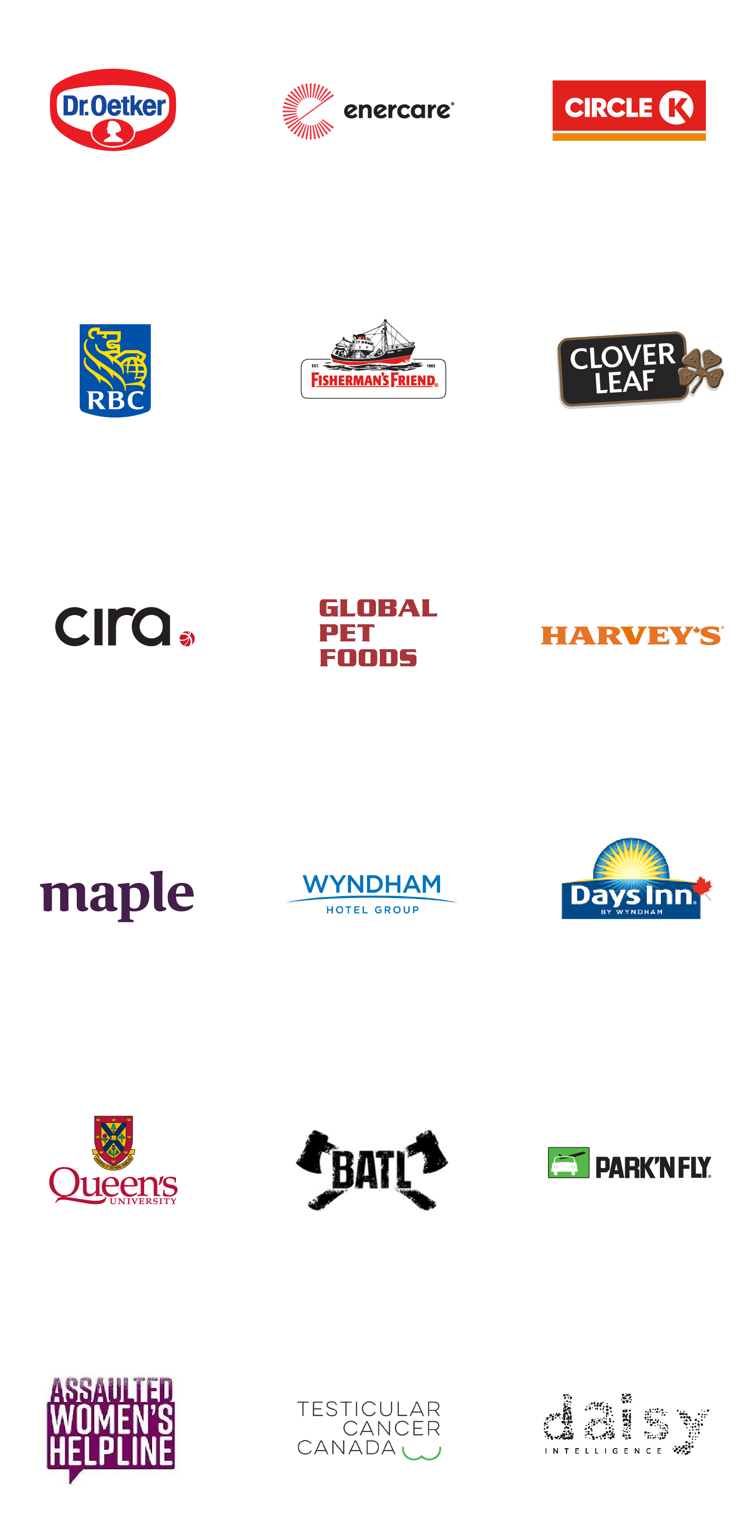 Logos of G&G clients